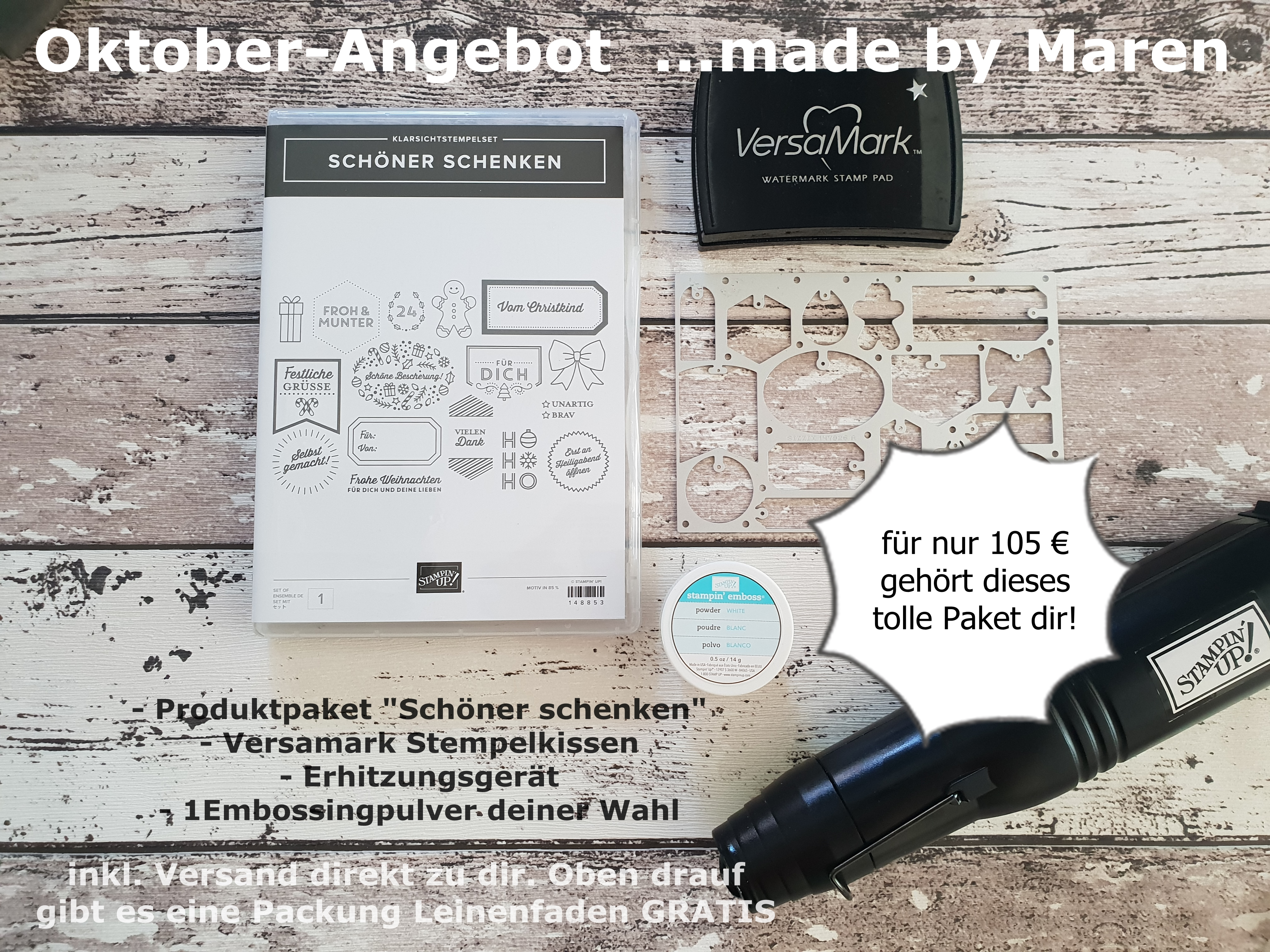 Oktoberangebot ...made by Maren